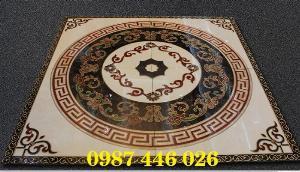 Gạch thảm trang trí vuông khắc vàng HP0257