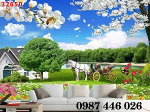 Gạch tranh phong cảnh thiên nhiên đẹp HP0004