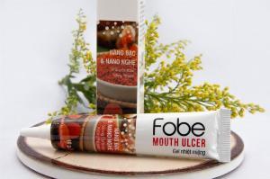 Gel bôi nhiệt miệng từ thiên nhiên-Fobe Mouth Ulcer- Tuýp 10gr