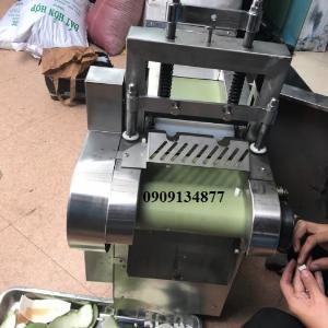 Máy cắt lá chanh, máy cắt lá chanh, máy thái sợi lá chanh, máy cắt rau lá dạng băng tải JL660