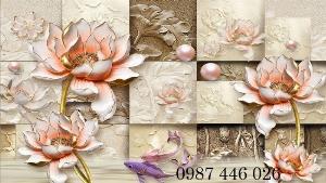 Tranh gạch men hoa sen HP9054