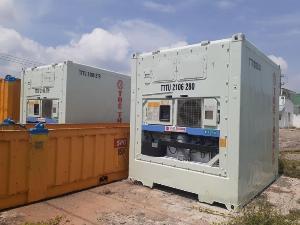 Container lạnh chứa hải sản hàng đông lạnh