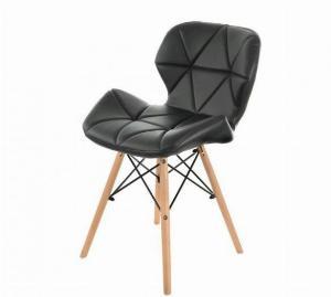 Ghế da tam giác chân gỗ màu đen huyền bí