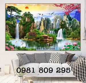 Tranh gạch 3d phòng khách - tranh phong cảnh