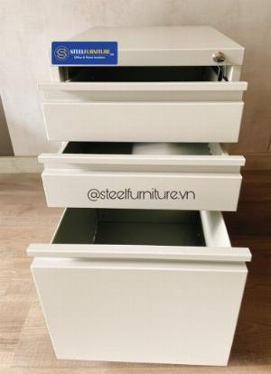 Tủ hồ sơ di động mini - mobile pedestal - bằng thép sơn tĩnh điện