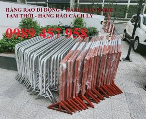 Rào chắn barie, hàng rào di động 1mx2m, 1,5mx2m