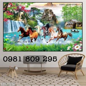 Mua tranh gạch giá rẻ - gạch 3d bát mã , ngựa