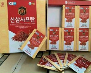 Nước hồng sâm núi và nhụy hoa nghệ tây Hàn Quốc chính hãng