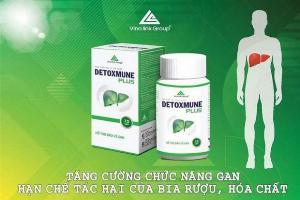 Detoxmune giúp cải thiện chức năng gan, đào thải độc tố giúp tăng cường sức khỏe