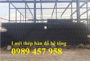 Sản xuất lưới thép hàn phi 6 200x200, Lưới hàn chập phi 8, Sắt D8 200x200, 250x250