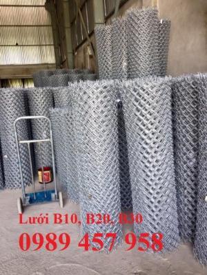 Sản xuất lưới thép B30 làm hàng rào 30x30, Lưới B30 bọc nhựa 1m8