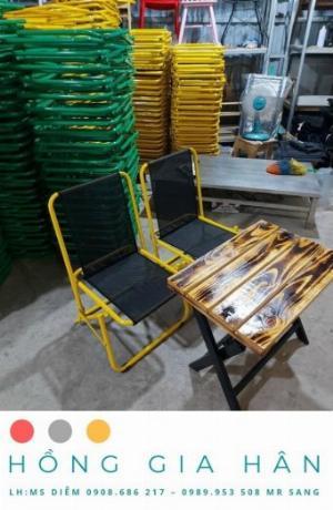 Bộ bàn ghế sắt Hồng Gia Hân BGS24