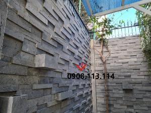 Đá 3D ốp tường ong xám - Ốp tường rào, ốp sân vườn đẹp