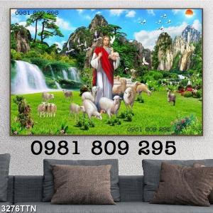 Gạch tranh 3d - công giáo - tranh chúa chiên lành