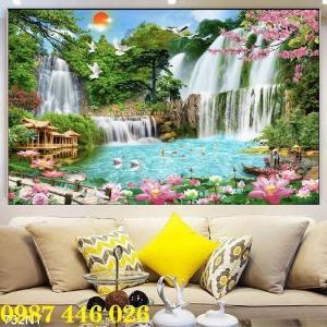 Gạch tranh phong cảnh thiên nhiên giao hòa HP3794