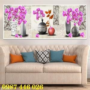 Bộ tranh gạch hoa lan Hp293