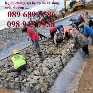 Rọ đá cho công trình thủy lợi, Rọ đá chống sạt lở, Rọ thép bọc nhựa, Rọ thép mạ kẽm