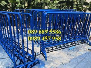Hàng rào di động sơn phản quang, hàng rào inox304, Hàng rào sơn mầu xanh