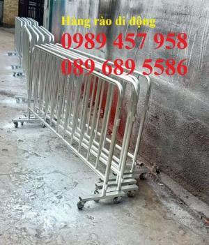 Gia công Khung hàng rào di động gắn bánh xe 1mx2m, 1,2mx2m, 1,5mx 2m