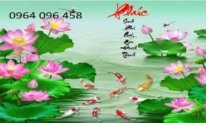 Tranh gạch hoa sen 3d - GS22