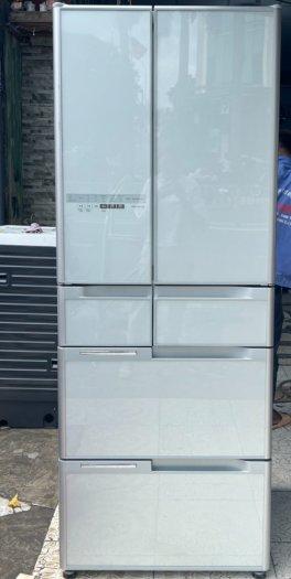 Tủ lạnh HITACHI R-C5200 6 cánh, mặt gương Xám xanh, 517Lít, Date 2013