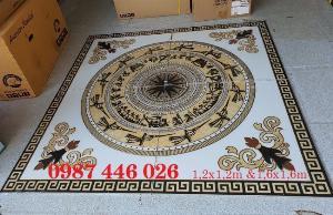 Thảm gạch sàn, trang trí phòng khách HP779