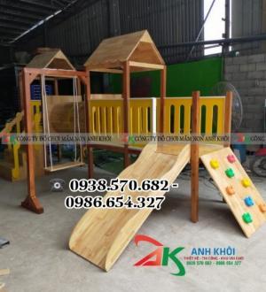 Sản xuất cầu trượt gỗ giá rẻ