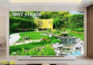 Gạch tranh phong cảnh sân vườn HP890