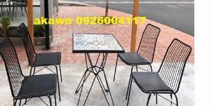 Bộ bàn ghế khung sắt chất lượng !