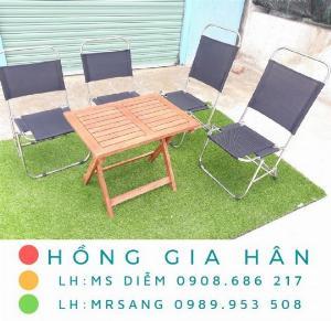 Bàn ghế cafe giá rẻ Hồng Gia Hân BGS26