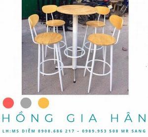 Bàn ghế cafe giá rẻ Hồng Gia Hân BGS28