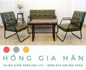 Bàn ghế cafe giá rẻ Hồng Gia Hân BGS30