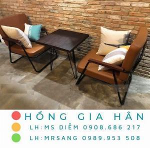 Bàn ghế cafe giá rẻ Hồng Gia Hân BGS31