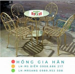 Bàn ghế cafe giá rẻ Hồng Gia Hân BGS35