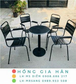 Bàn ghế cafe giá rẻ Hồng Gia Hân BGS36