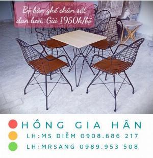 Bàn ghế cafe giá rẻ Hồng Gia Hân BGS37