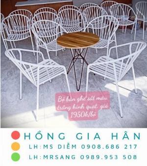 Bàn ghế cafe giá rẻ Hồng Gia Hân BGS38