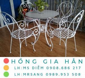 Bàn ghế cafe giá rẻ Hồng Gia Hân BGS40