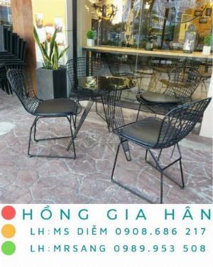 Bàn ghế cafe giá rẻ Hồng Gia Hân BGS41