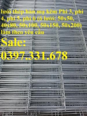Lưới thép hàn mạ kẽm phi 5, lưới thép hàn ô vuông, lưới thép hàn chập