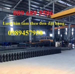 Lưới thép chống thấm phi 4 ô 200x200, D4 ô 250x250, Thép D6 200x200 có sẵn