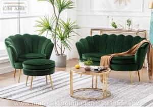 Sofa vỏ sò mẫu ghế khác lạ cho các tiệm cafe, trà sữa tại Bến Cát, Bình Dương