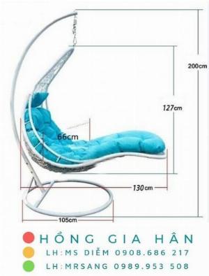 Cần thanh lý xích đu mây nhựa Hồng Gia Hân XD201