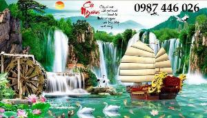 Tranh gạch phong cảnh thiên nhiên tuyệt đẹp HP9090