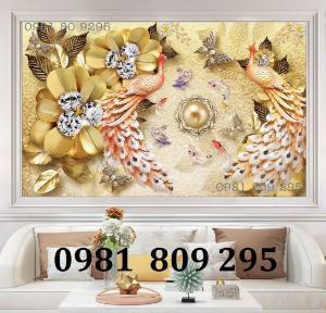 Tranh chim công - gạch tranh 3d siêu đẹp ốp tường