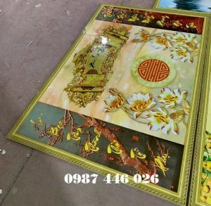 Tranh gạch men phòng thờ đẹp trang trí HP900