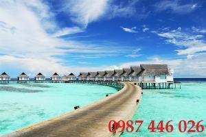 Gạch tranh bãi biển 3d HP07898