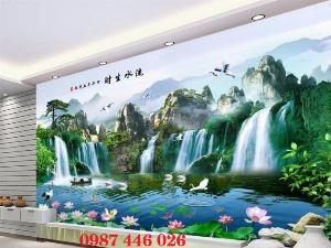 Tranh phong cảnh thiên nhiên- gạch tranh ốp tường HP5020