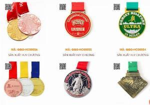 Sản xuất huy chương giải chạy marathon, huy chương kim loại, huy chương đúc nổi