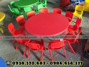 Bàn ghế nhựa mầm non hàng nhập khẩu